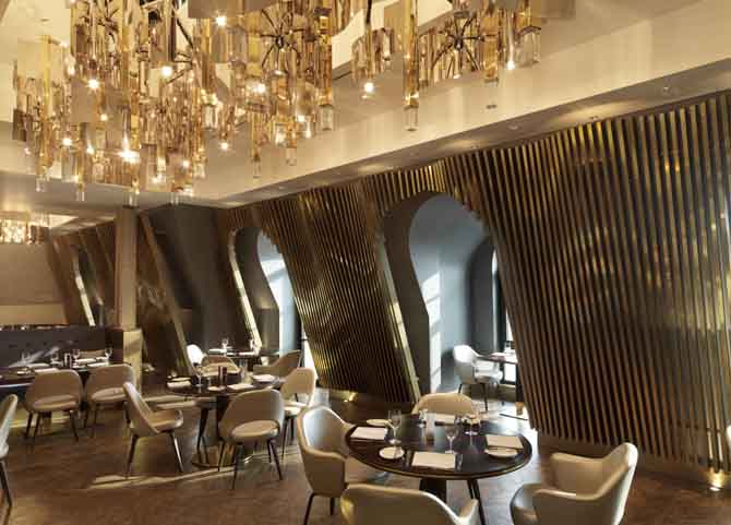 Kaspia Restaurant shortlisted in the European Hotel Design Awards
