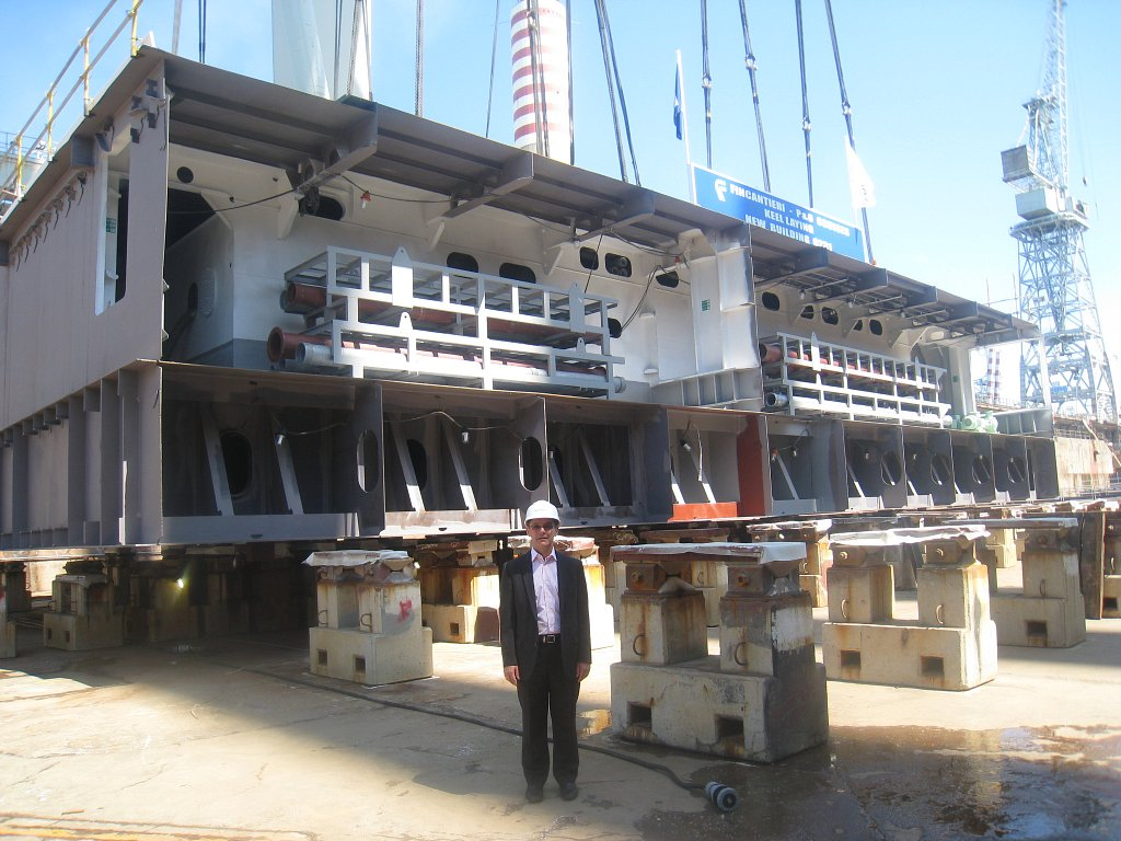 The Keel Laying of the New P&O Cruise Ship