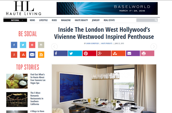 Haute Living - London West Hollywood