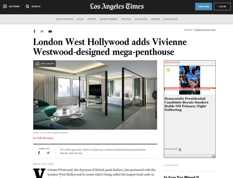 Los Angeles Times - London West Hollywood