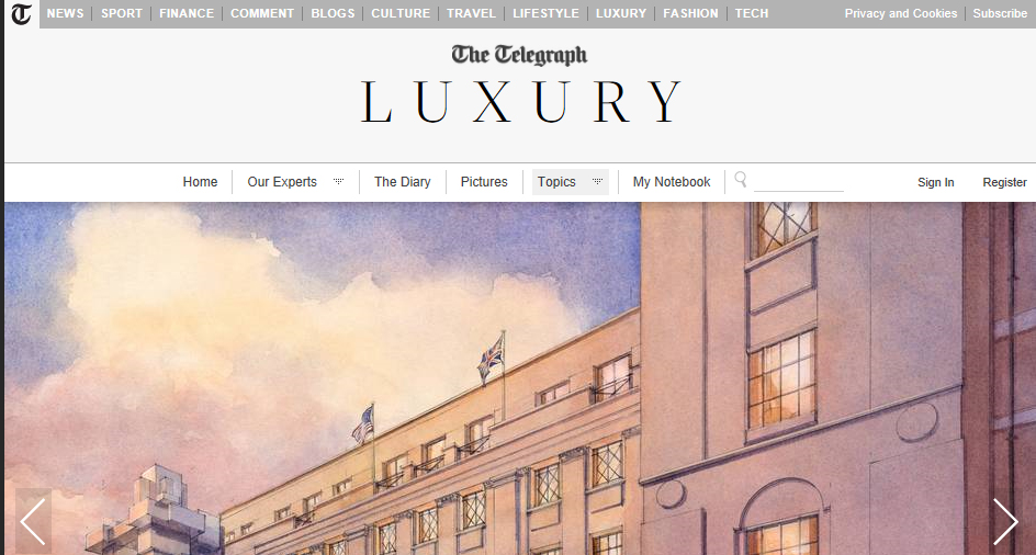 The Telegraph Luxury - The Beaumont Hotel