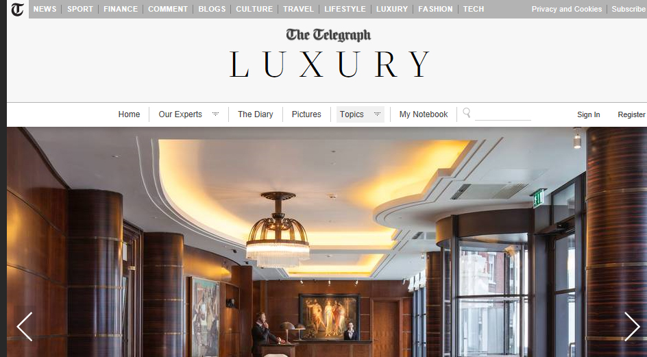 The Telegraph Luxury -  Inside The Beaumont Hotel