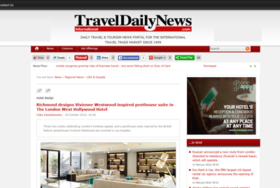Travel Daily News - London West Hollywood
